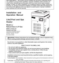 jandy lite2 lj heater i o manual [ 791 x 1024 Pixel ]