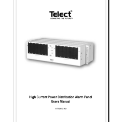 Telect Fuse Panel Wiring Diagram House Ac High Current Power Distribution Alarm User Guide Manualzz Com