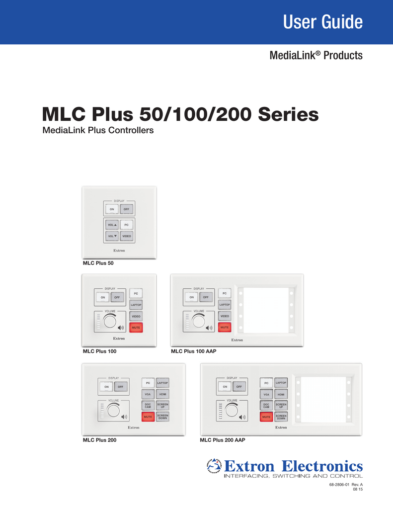hight resolution of mlc plus 50 100 200 series user guide