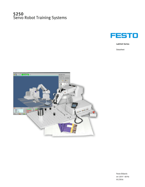 small resolution of servo robot training systems model 5250 lab volt