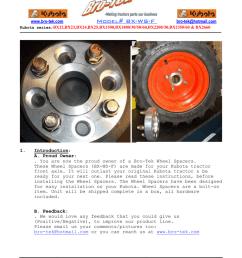 kubota bx front wheel spacer instruction bro tek [ 791 x 1024 Pixel ]