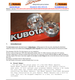 kubota bx rear wheel spacer instruction pdf bro tek [ 791 x 1024 Pixel ]