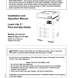 teledyne laars lite2 millivolt 125 000 natural gas heater 931550 manualzz com [ 791 x 1024 Pixel ]