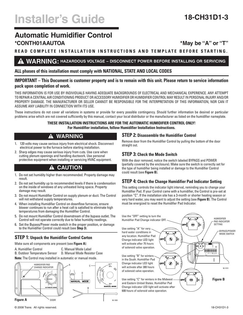 medium resolution of trane thumd500 control installation manual
