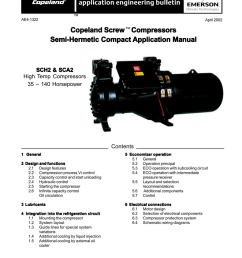 for more free copeland literature please visit www hvacrinfo com ae4 1322 april 2002 copeland screw compressors semi hermetic compact application manual  [ 791 x 1024 Pixel ]
