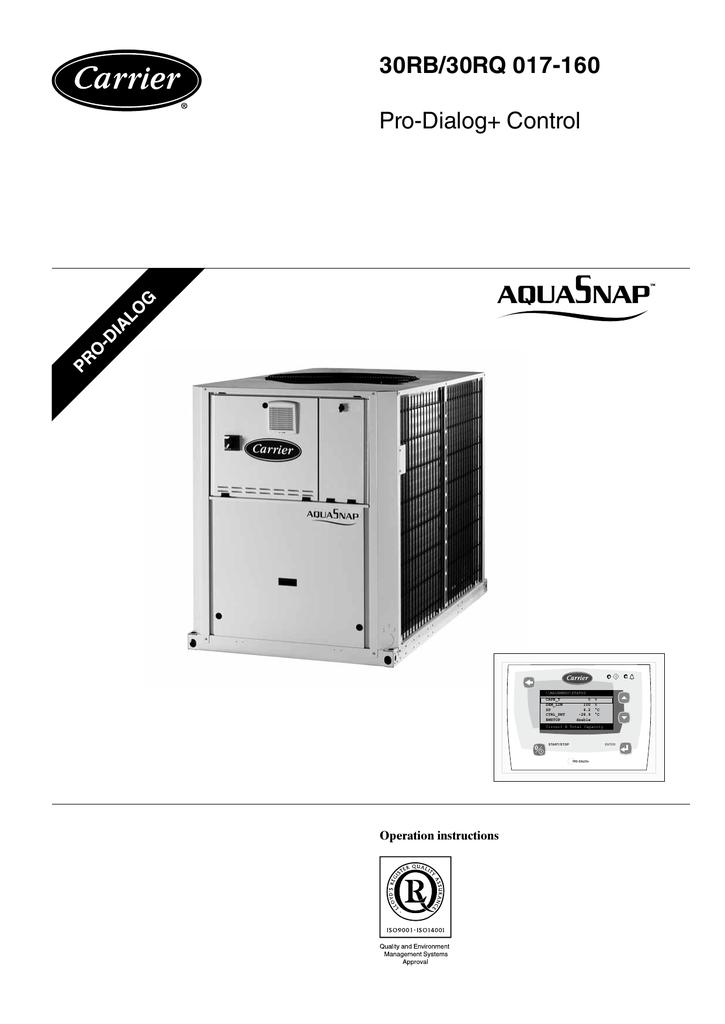 carrier 30rb wiring diagram simple respiration 30rq 017 160 pro dialog control operation instructions mainmenu status manualzz com