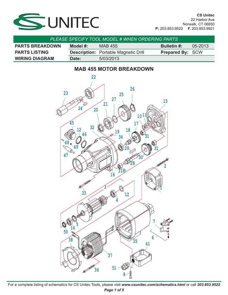 medium resolution of mag drill wiring schematic