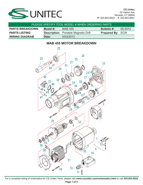 small resolution of mag drill wiring schematic