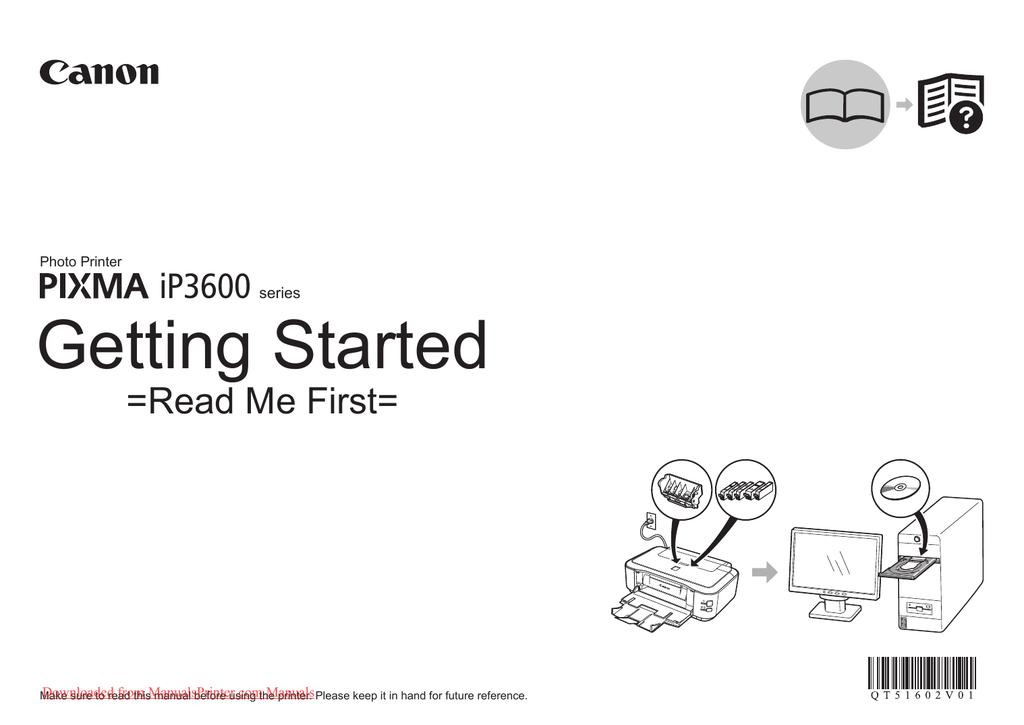 Canon PIXMA iP3600 Printers User Guide Manual Pdf