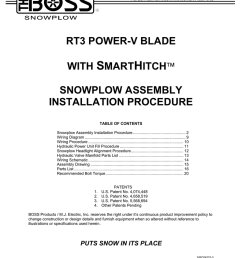 rt3 power v blade with smarthitch snowplow assembly installation procedure [ 791 x 1024 Pixel ]