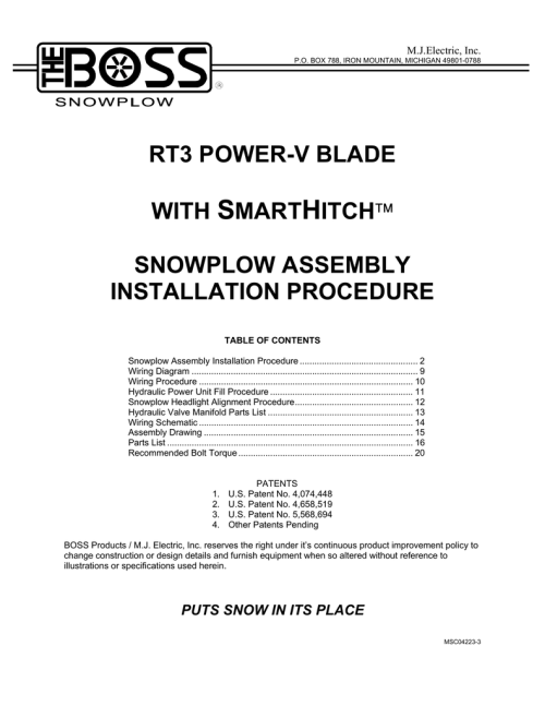 small resolution of rt3 power v blade with smarthitch snowplow assembly installation procedure