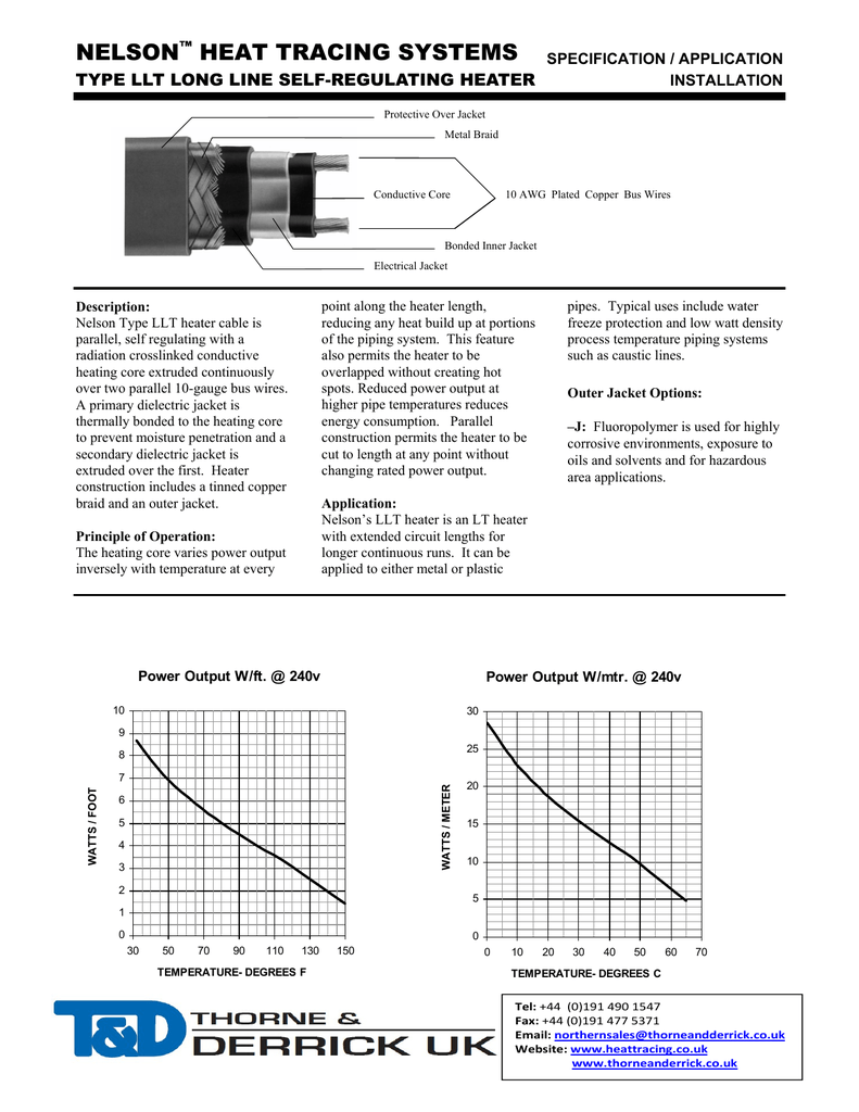 medium resolution of nelson heat tracing cables