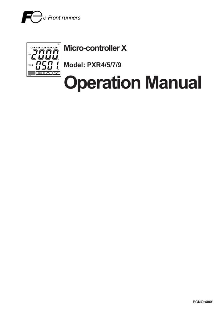 PXR4-PXR5-PXR7-PXR9 Micro Controller X Operation Manual