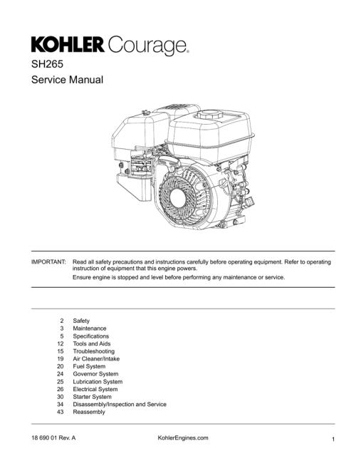 small resolution of kohler engine service manual
