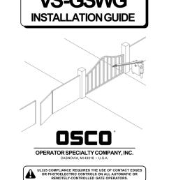 osco vs gswg manual manualzz com rh manualzz com craftsman garage door opener wiring diagram [ 791 x 1024 Pixel ]