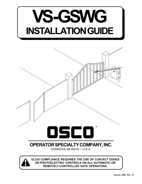 small resolution of osco vs gswg manual manualzz com rh manualzz com craftsman garage door opener wiring diagram