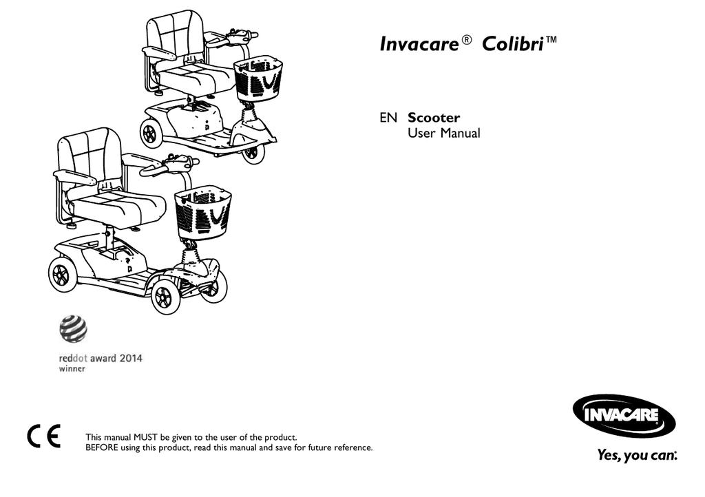 Invacare Orion Pro Bedienungsanleitung