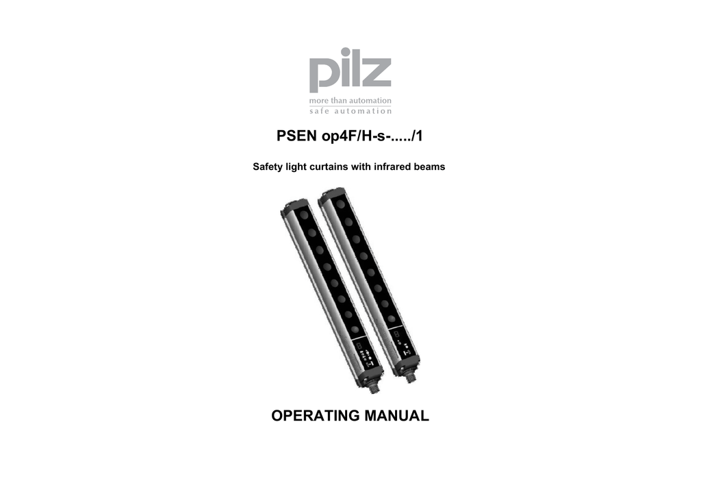 PSEN op4F/H-s-...../1 OPERATING MANUAL Safety light