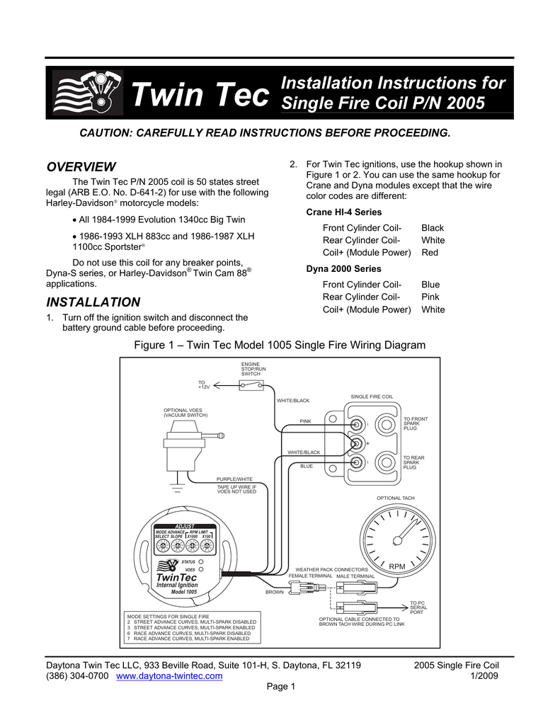 medium resolution of single fire coil instructions