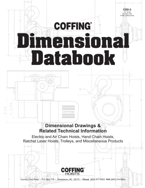 small resolution of coffing hoist and trolley dimensional databook