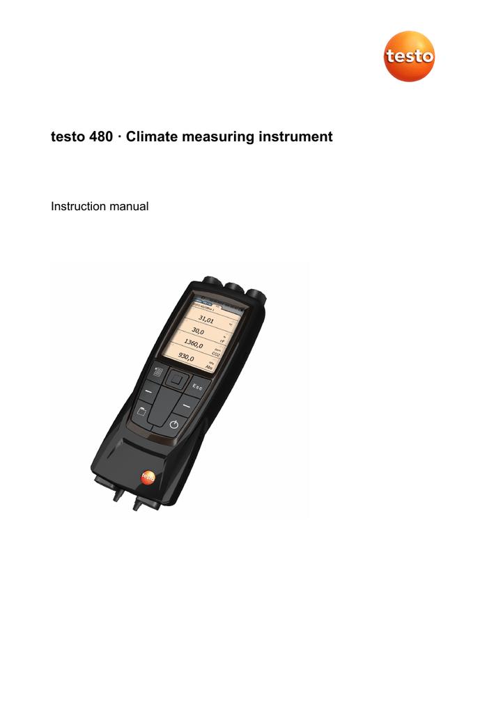Testo 480 Digital Temperature and Humidity Meter Manual