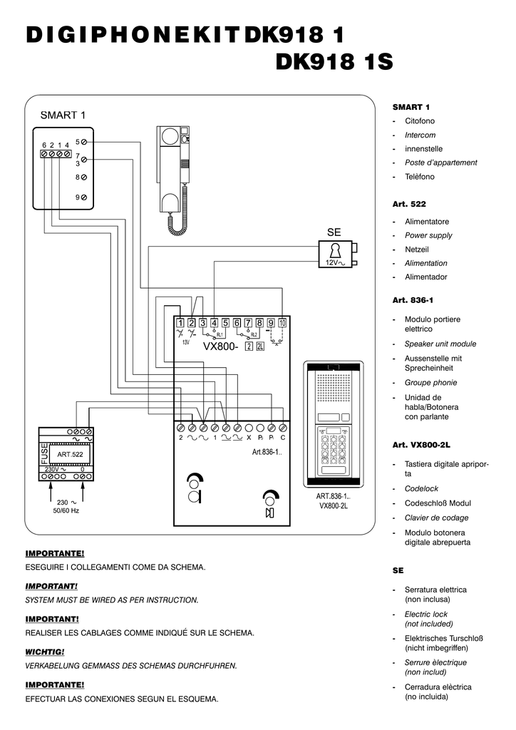 Videx 836 Wiring Diagram Free Download • Oasis-dl.co