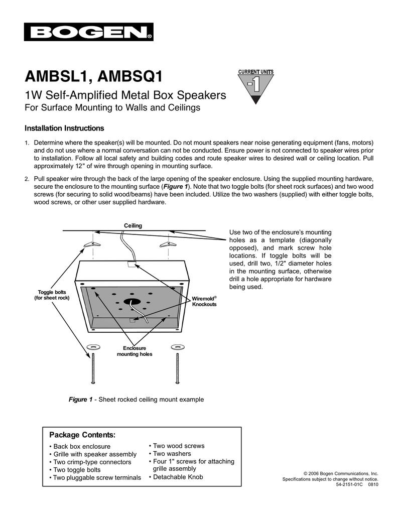 medium resolution of bogen am series speaker and assemblies manual