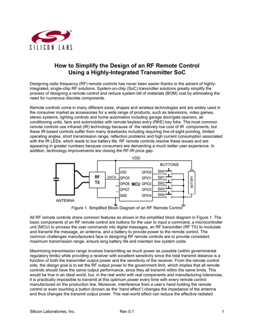 small resolution of designing an rf remote control white paper