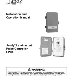 jandy laminar jets lpc4 owners manual [ 791 x 1024 Pixel ]