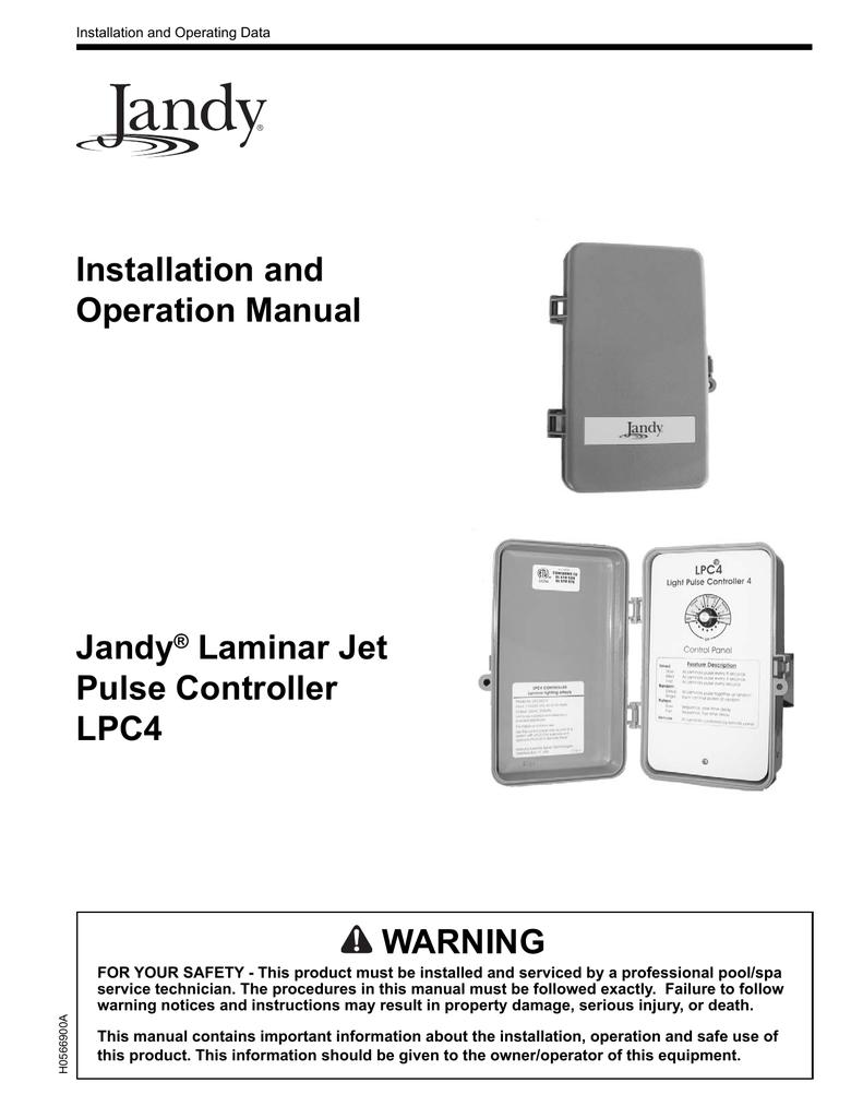 medium resolution of jandy laminar jets lpc4 owners manual