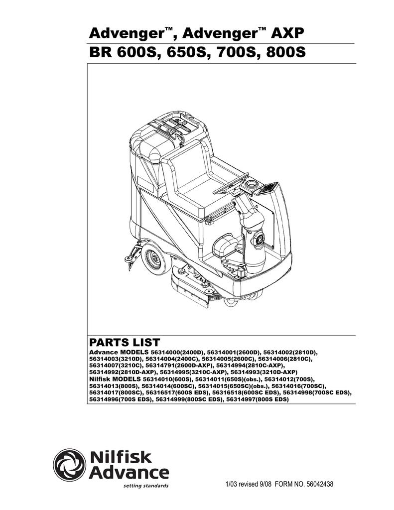 hight resolution of advance advenger 2810 parts list