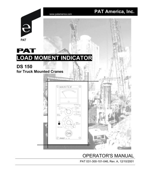 small resolution of pat hirschmann ds150 operator s manual alternate manualzz com pat ds 350 wiring diagram
