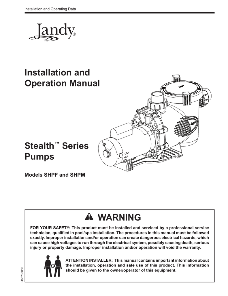 hight resolution of jandy stealth pump installation owners manual