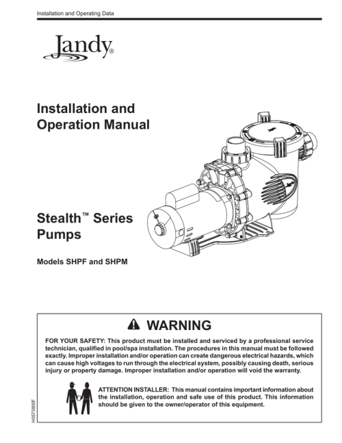 small resolution of jandy stealth pump installation owners manual