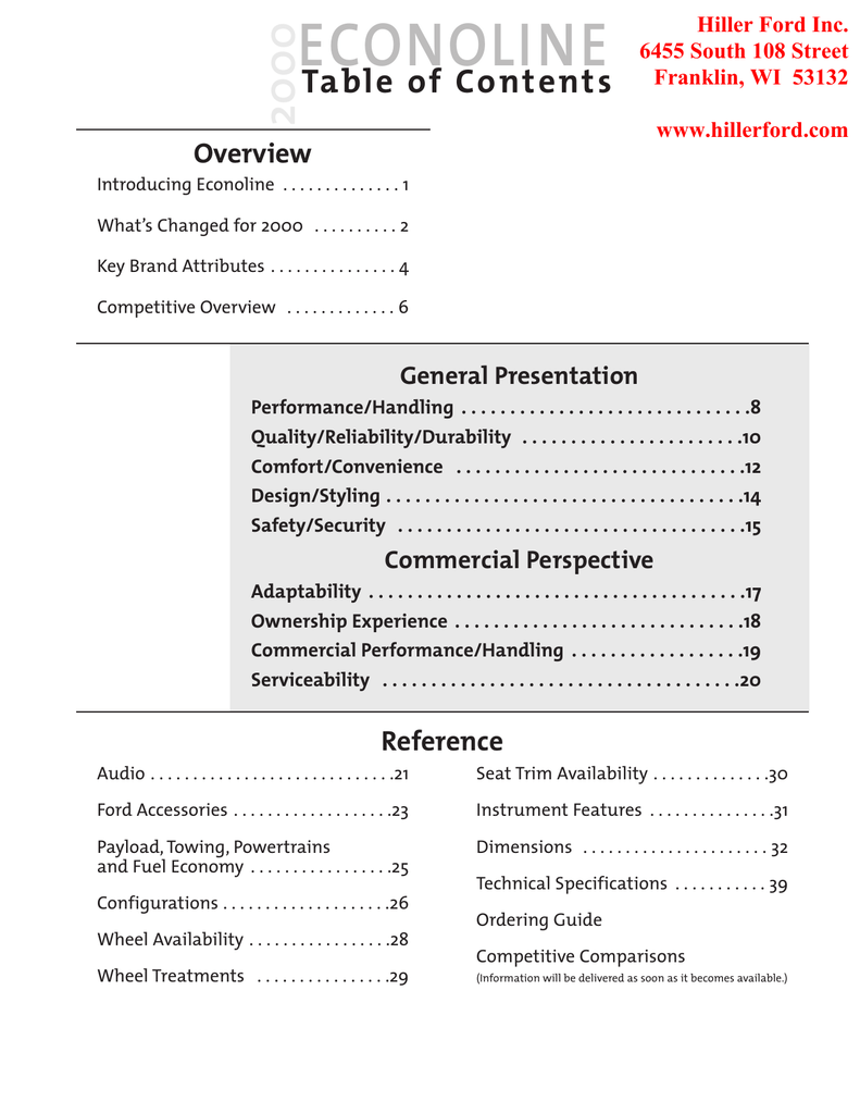 hight resolution of 2000 econoline technical