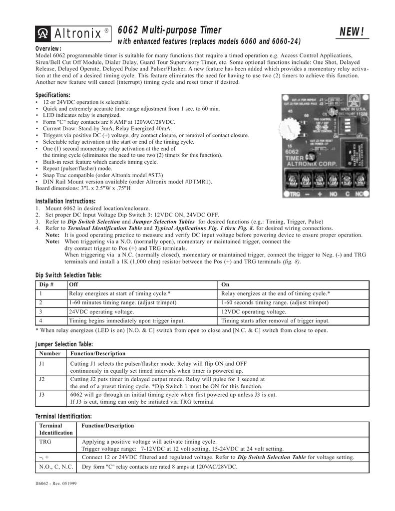 medium resolution of  altronix 6062 timer relay wiring diagram wiring diagram on 12vdc timer relay