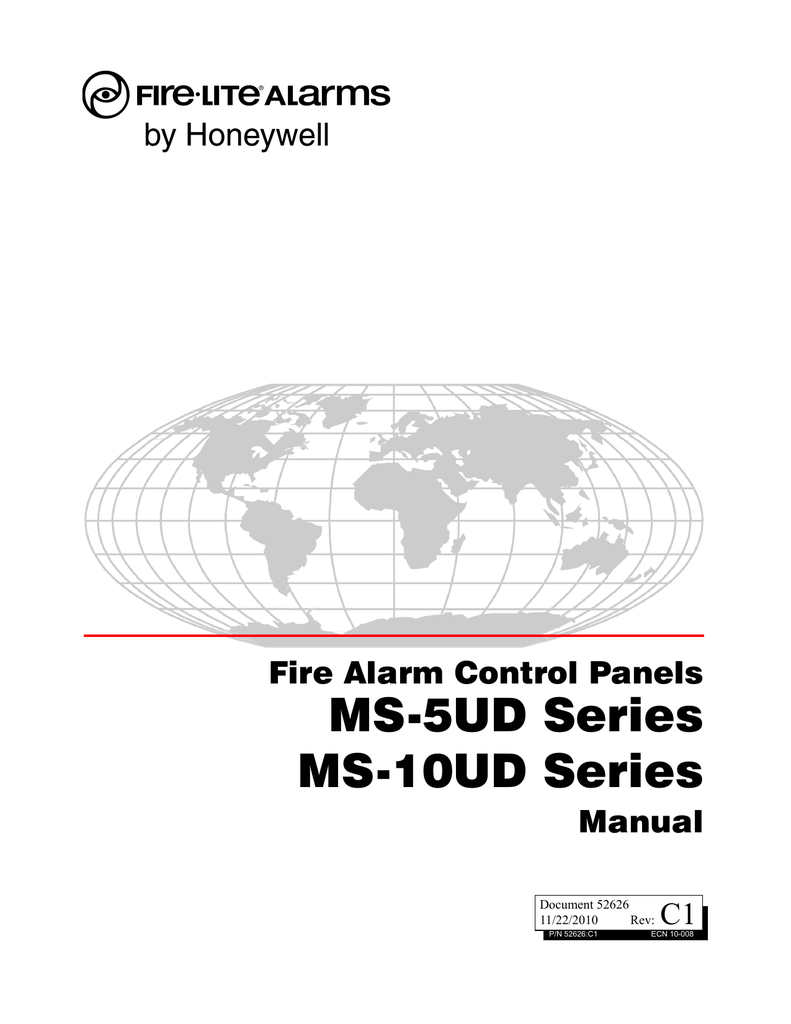 MS-5UD Series MS-10UD Series Fire Alarm Control Panels