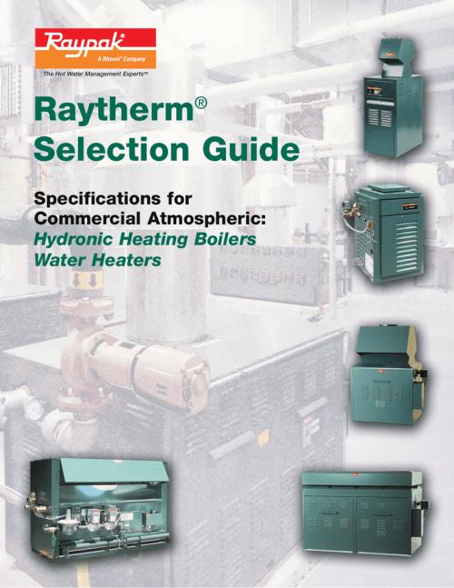 small resolution of raytherm raypak raytherm guide de s lection anglais