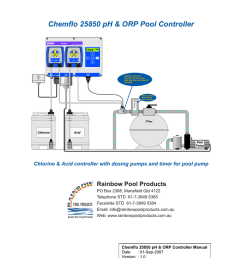 chemflo 25850 ph orp pool controller rainbow pool products [ 791 x 1024 Pixel ]