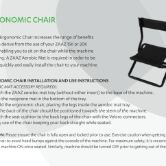 Zaaz Ergonomic Chair Dining Room Covers With Buttons Egronomic Instructions1 Manualzz Com