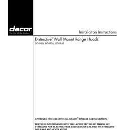 installation instructions distinctive wall mount range hoods dthp30 dthp36 dthp48 [ 791 x 1024 Pixel ]