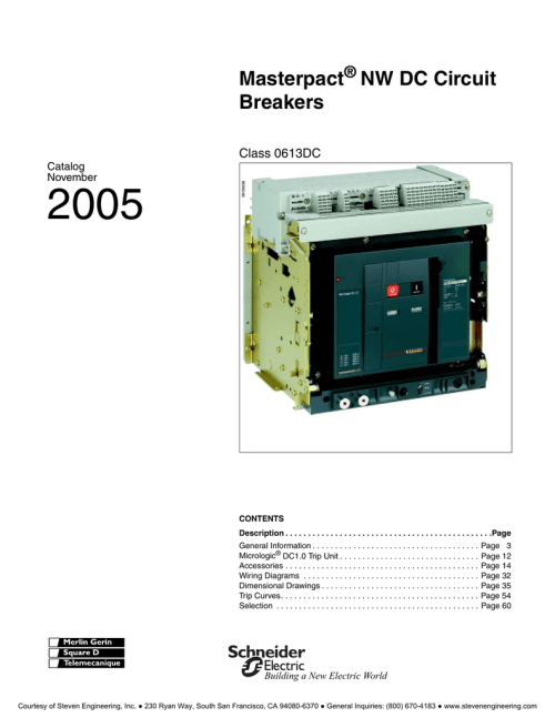 small resolution of masterpact nw low voltage circuit breakers