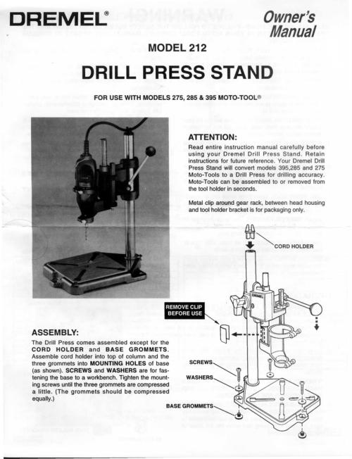 small resolution of dremel drill press stand
