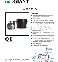 drainosaur waste water removal system wrsc 6 features n pump made of cast iron housing with protective epoxy coating for corrosion resistance n screened  [ 791 x 1024 Pixel ]