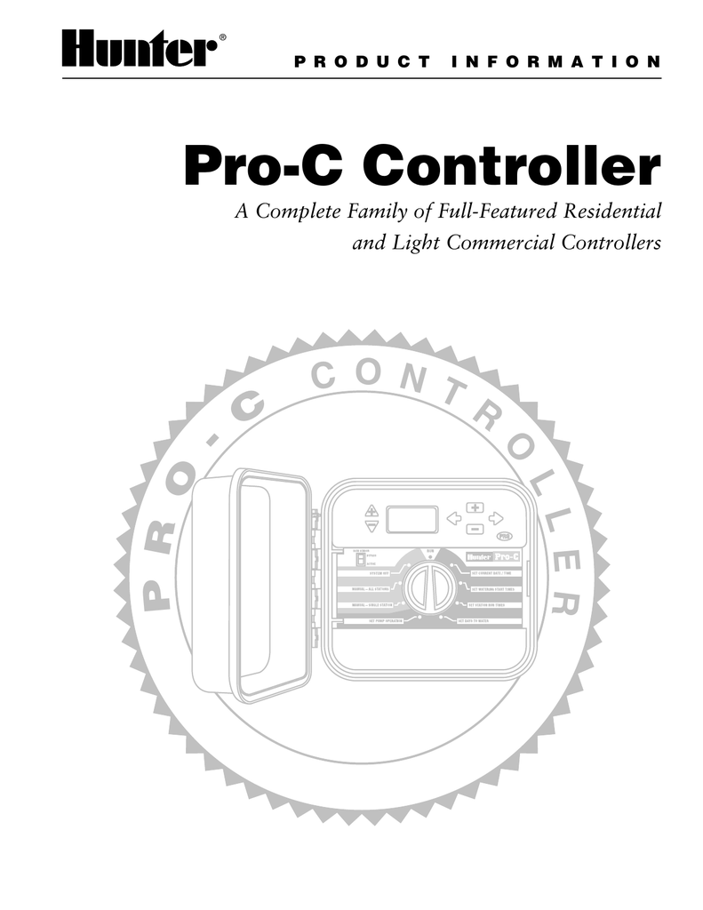 Hunter Pro-C Controller Troubleshooting Guide and Product