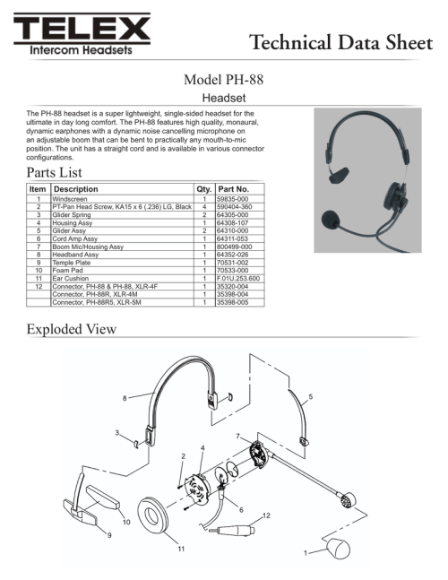 small resolution of  diagram ph 88 technical data sheet manualzz com on headset jack wiring