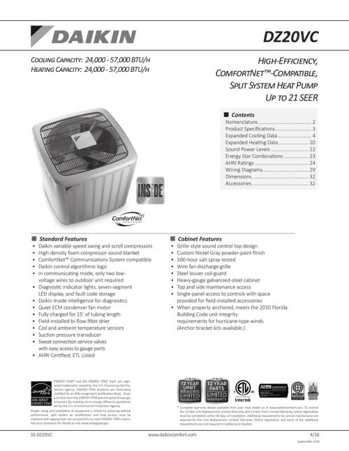 small resolution of dz20vc high efficiency comfortnet compatible split system heat pump