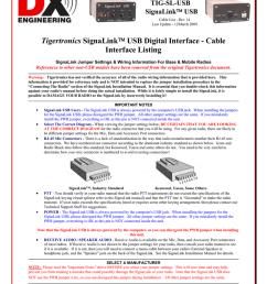 tigertronics signalink cablelist [ 791 x 1024 Pixel ]