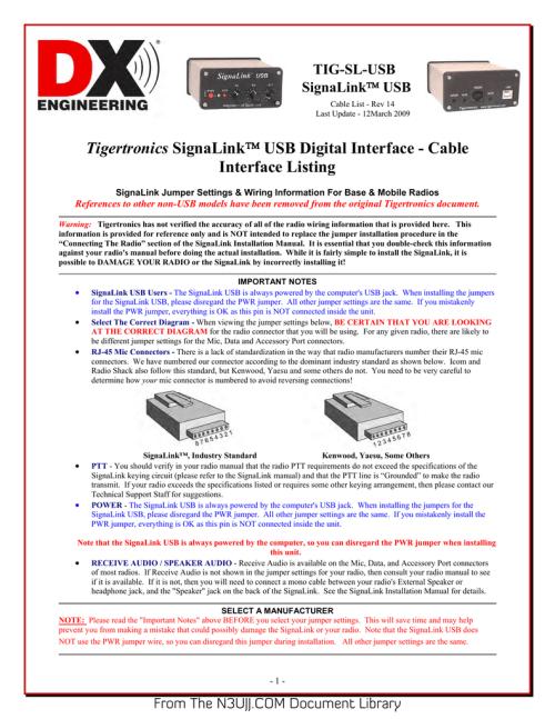 small resolution of tigertronics signalink cablelist