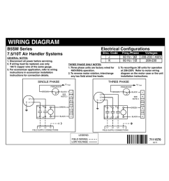 wiring diagram electrical configurations b5sm series 7 5 10t air handler systems [ 1024 x 791 Pixel ]